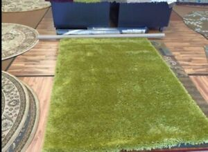 5x7 Super Soft Lime Green Shag Rug