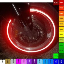 RED 3M REFLECTIVE MOTORCYCLE or CAR RIM STRIPE WHEEL DECAL TAPE STICKER FULL SET