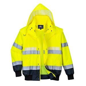 Portwest G465 Glowtex 3 In1 Bomber Jacket Waterproof Fluorescent Hi Vis Workwear