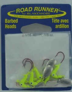 Blakemore C152-012 Road Runner Bleeding Hook Head 1/16 oz Chartreuse 4CT
