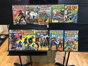 Lot Of 10 Marvel Western Kid Colt Outlaw Rawhide Kid Set