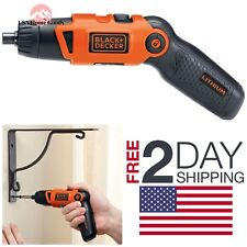 BLACK DECKER Cordless Rechargeable Screwdriver Charger Lithium-ion Battery