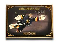 "Marc-Andre Fleury Signed Inscribed ""The Save"" 11/20 Vegas Knights Photo #D/450"