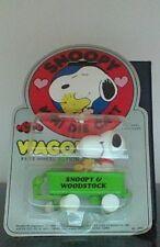 Vintage Peanuts Snoopy Hugging Woodstock's Handfuls Green Wagon New In Package