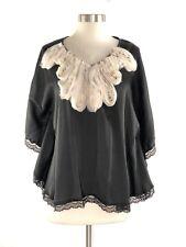 5 th Culture Black Batwing Blouse Womens size Medium