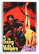Blood of the Vampire (France) FRIDGE MAGNET (2.5 x 3.5 inches) movie poster