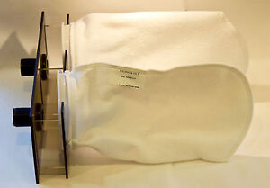 """Double 7"""" Filter Sock Holder 40 Breeder sump 200 micron socks included"""