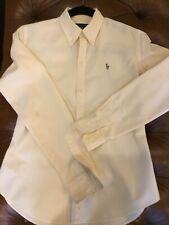 Ralph Lauren Womens Yellow Stripe Slim Fit Classic Oxford Button Down Shirt 6