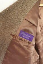 """Ralph Lauren Purple Label 100% Cashmere Blazer Tweed Jacket Size 46"""" R"""