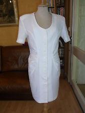 ROBE d'été lin blanc Kookaï T36 VINTAGE 80 WHITE LINEN SUMMER DRESS size S