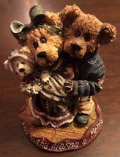 "Momma & Poppa McNewBear with Baby Boyds Bears 1999 #227731 4"" Tall 12E/2972"