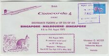 CONCORDE 1975 BRITISH ARIWAYS CONCORDE official illust FFC *SNGAPORE-MELBOURNE*