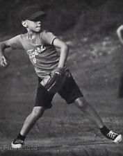 1961 Vintage Boy Playing Baseball Glove Sports Photo Gravure Warren Schoneberger