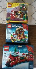 LEGO Christmas Train (40138) Limited Holiday 2015 Edition 40125 40106. 3 sets!!!