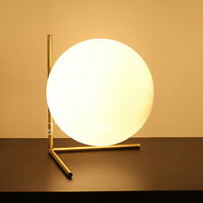 Modern Glass Bubble Table Desk Lamp E14 Bulb Night Reading Flos Lighting Fixture