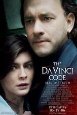THE DA VINCI CODE Movie POSTER 27x40 V Tom Hanks Ian McKellen Alfred Molina Jean
