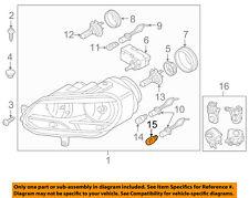 VW VOLKSWAGEN OEM 12-16 Eos Headlight Head Light Lamp-Daytime Run Lamp N10724403