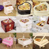 Creative Mini Piano Model Metal Antique Musical Box Gift Decor Birthday Wedding