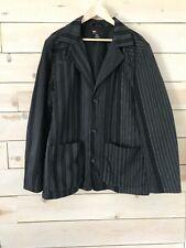 Diesel Black and Gray Striped Blazer Sz XL Sportcoat