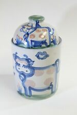M A Hadley Double Cow Lidded Pottery Canister