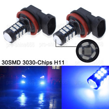 2x H8 H11 H9 30SMD 10000K Blue Super Bright LED Fog Light Driving Bulb DRL Lamp