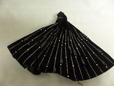 Barbie Black Velvet Silver Gown Dress
