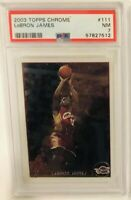 🔥2003 TOPPS CHROME LEBRON JAMES ROOKIE CARD RC #111 PSA 7 NEAR MINT INVEST!!
