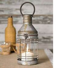 Carriage Candle lantern in Distressed Tin