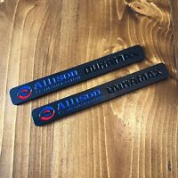 New - 2x Allison Transmission Duramax™ Black Fender Door Emblem Badge Chevy GMC