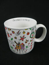 "VINTAGE SNOWFLAKES - ""CHRISTMAS IS IN THE AIR"" CHRISTMAS 10 OUNCE COFFEE MUG"