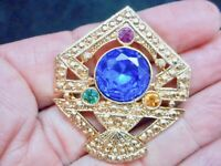 Authentic Vintage 1990's Victorian Revival Rhinestone Bling Brooch