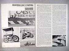Montesa 250/5 Cappra Motorcycle Review MAGAZINE ARTICLE - 1970