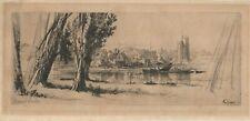 "FRANCIS SEYMOUR HADEN, Original etching, ""Fulham"""