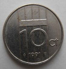 NETHERLANDS 10 CENTS 1991
