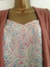 BNWT NEXT Multi Print Paisley Cami & Sleeveless Waterfall Cardigan Set Size 10
