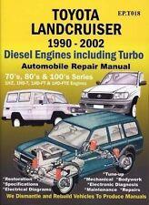 TOYOTA Landcruiser 1990 to 2002 Diesel. 70/80 & 100 Series. 4.2cc Engine Turbo
