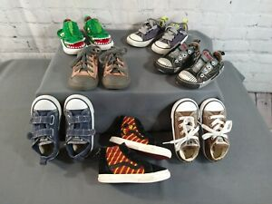 Lot of 7 toddler VANS & CONVERSE CHUCK TAYLOR athletic shoes - SIZE 7