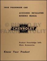 1955 Chevy Accessory Installation Manual 55 Chevrolet Car 150 210 Bel Air