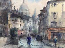 Georges Dominique ROUAULT 1904-2002.Montmartre.Technique mixte.SBD.19x24.Cadre.