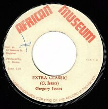 """GREGORY ISAACS-extra classic   african museum 7""""     (hear)      reggae"""