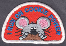 """I RUN ON COOKIE POWER"" PATCH - Iron On Embroidered Patch/Food, Dessert, Cookies"