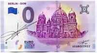 2019 BERLIN DOM 0 Euro Souvenir Banknote - Original Signature by Richard Faille