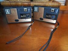 1980's RETRO VINTAGE Collect. (2) KODAK DISC 3100 Copper-Color Faceplate Cameras