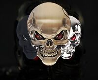 Metal Skeleton Skull Bone 3D Auto Car Motor Logo Emblem Badge Sticker Deca black