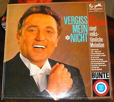 """Original LP Tenor Fritz Wunderlich """"Vergiss mein nicht"""" Sammler Klassik"""