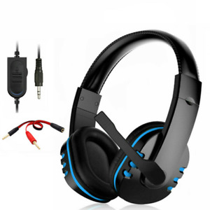 Gaming Headset w/ Mic Stereo Gamer Bass Surround Headphone for PS4 Xbox One PC