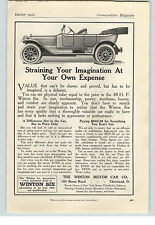 1912 Paper Ad 48 H P Winton Six Car Winton Motor Car Co  Cleveland OH