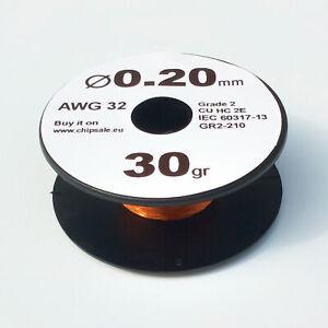 0.2 mm 32 AWG Gauge 30 gr ~106 m (1 oz) Magnet Wire Enameled Copper Coil