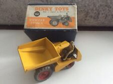 DINKY TOYS MECCANO DUMPER TRUCK #562 DRIVER FIGURE PICTURE BOX ENGLAND AS NEW