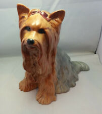 "Rare Royal Doulton Yorkshire Terrier Yorkie Vintage Dog Figurine 10-1/4"" tall"